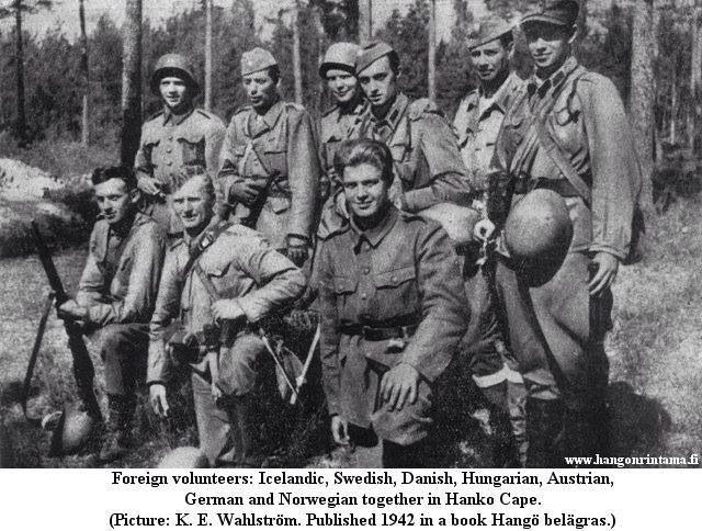 Foreign Volunteers in the Finnish Army during the Winter War.  I'm trying to guess which person is from which country XD