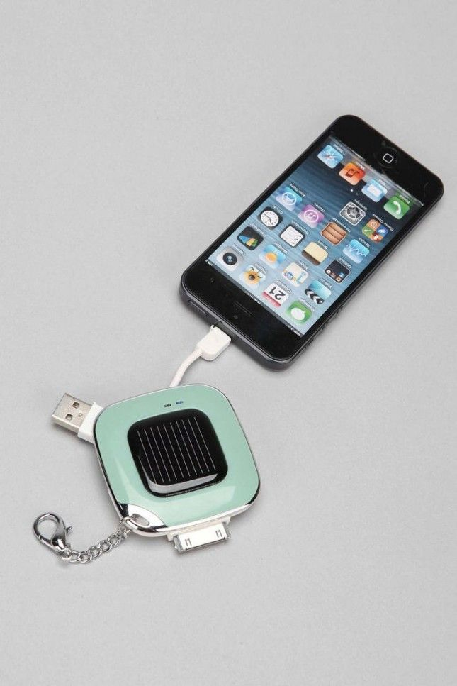 Keep your phone charged with this solar power keychain.