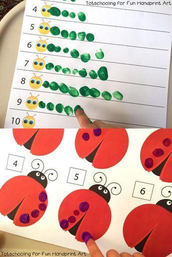 5 manualidades para niños ¡aprender a contar! Aprender a contar con manualidades para niños. Actividades educativas y divertidas para aprender a contar con los niños de edad preescolar.