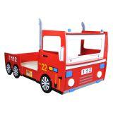 Cama para crianças com temático de Carro de bombeiros