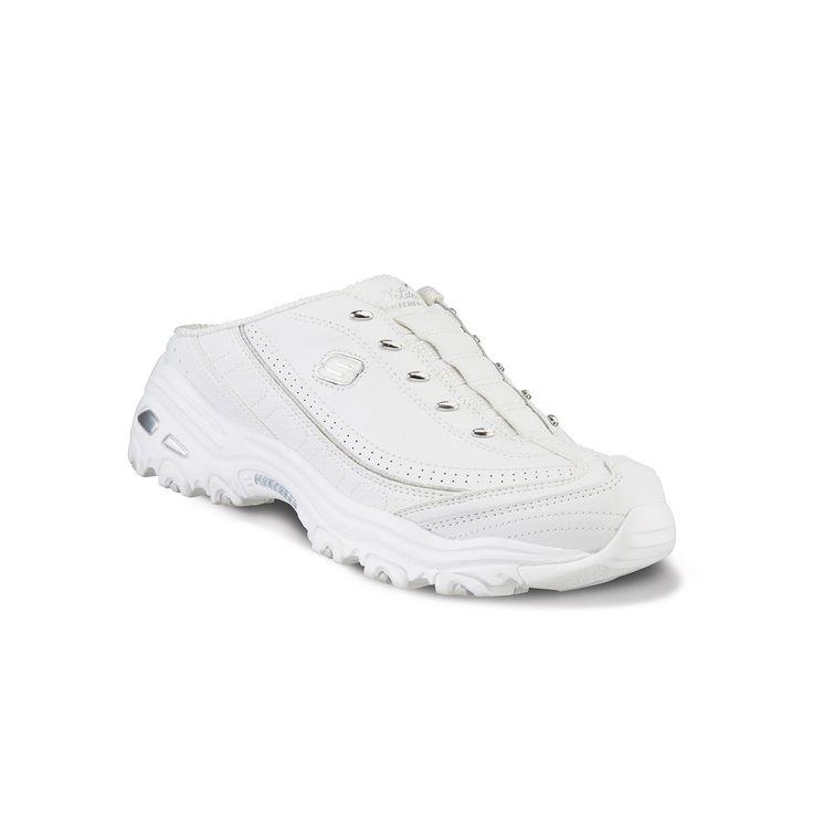 Skechers D'Lites Bright Sky Women's Slip-On Clog Sneakers, Size: 8.5 Wide, White Oth