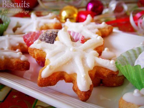 Bredele : Biscuits de noel décorés (flocons de neige)