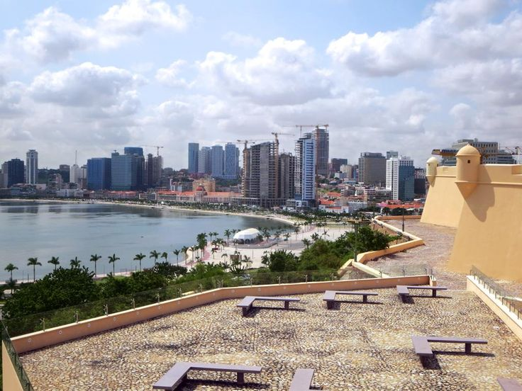 The Fortaleza de Sao Miguel (1576) watches over the south end of the bay at Luanda, Angola.