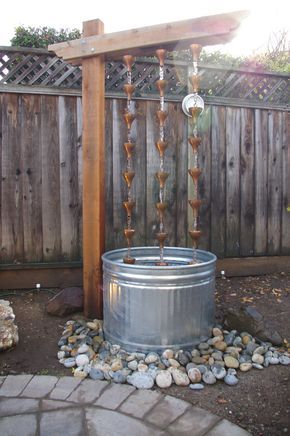 No backyard landscape job is complete without a water feature. This was high on my wife's list both to provide some pleasant ambient sound and to act as a focal point. The common DIY water fe…