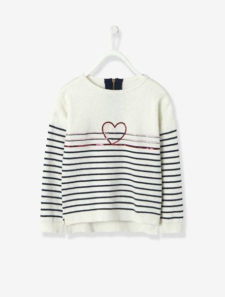 Camisola estilo marinheiro, para menina