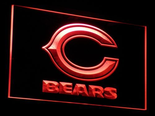 b036 Chicago Bears Super Bowl Bar LED Neon Sign with On/Off Switch 7 Colors 4 Sizes to choose