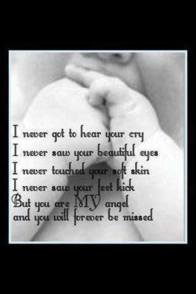 Miscarriage originally but I've also applied it to infertility and that fantasy baby that would never exist