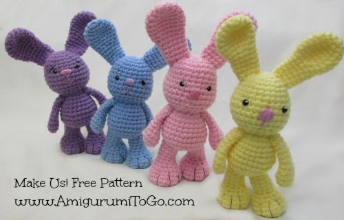 Amigurumi To Go Bigfoot Bunny : 17 Best images about Amigurumi Bunny on Pinterest Funny ...