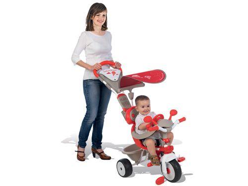 Smoby trojkolka Baby Driver Confort je krásna šedo-červeno-biela trojkolka s kovovou konštrukciou vhodná pre deti od 10 mesiacov do 3 rokov a ďalej.