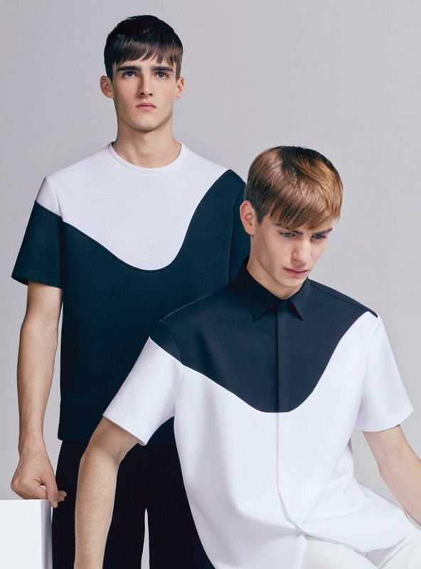 Elliot Vulliod & Ben Allen for Neil Barrett Spring/Summer 2014 Geometric shirt for men