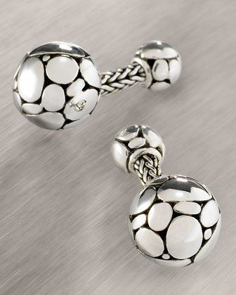 Kali Round Cuff Links by John Hardy at Neiman Marcus.