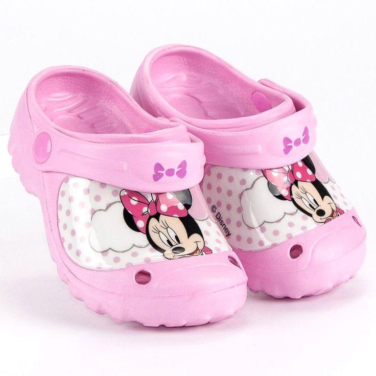 Klapki Dla Dzieci Butymodne Rozowe Gumowe Klapki Myszka Miki Butymodne Baby Shoes Kids Shoes