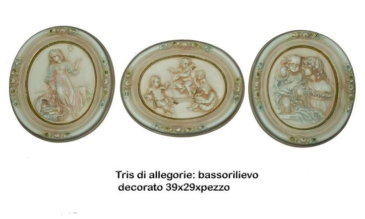 Tris ovali maternità decorate