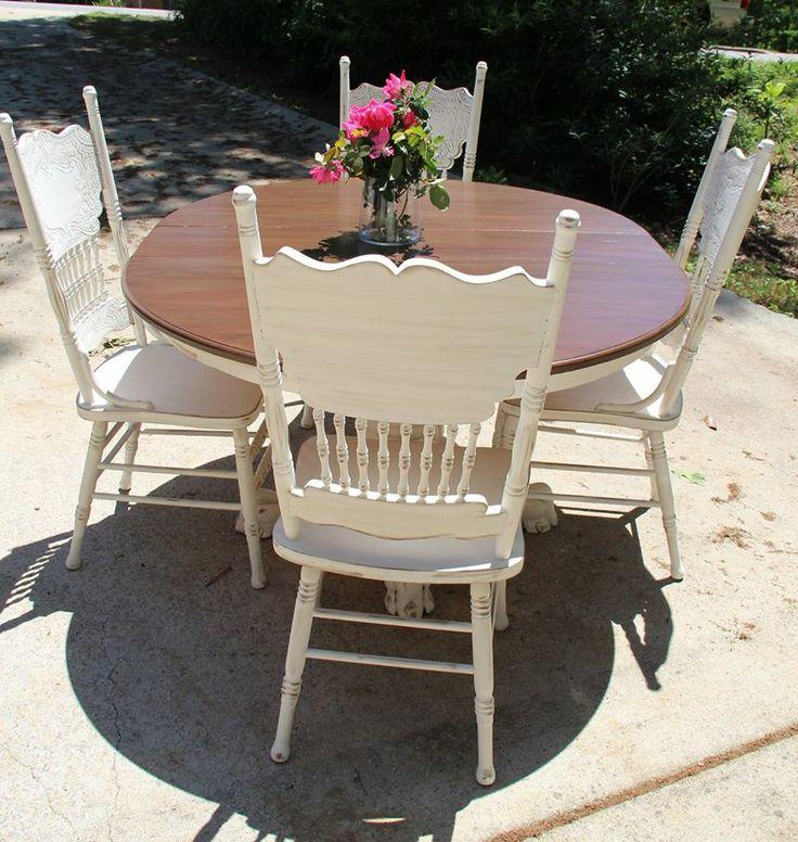 Www facebook com AFreshCoatofFabulous Amish table update  Glazed wood top   Cece s26 best Kitchen ideas images on Pinterest   Kitchen  Home and  . Redo Old Kitchen Table. Home Design Ideas