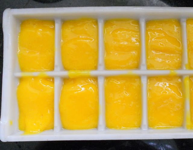 Cooking Is Easy: Mango Ice Cubes.