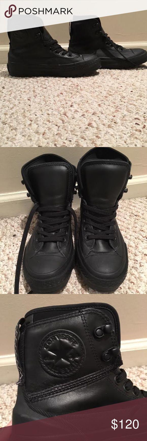 *BRAND NEW* Converse Tekoa Boots UNISEX, NEVER WORN, BLACK, WATER RESISTANT Men's 6, Women's 7.5 Converse Shoes Winter & Rain Boots