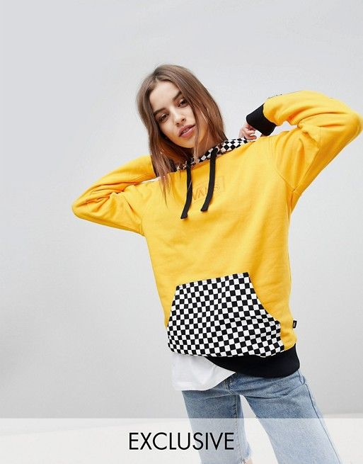 aca7953caa885 Vans Exclusive Hoodie With Checker Board Hood