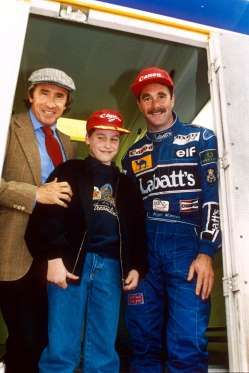 British Formula 1 Grand Prix at Silverstone, Britain - 1992 JACKIE STEWART, PRINCE WILLIAM AND NIGEL... - REX/Shutterstock