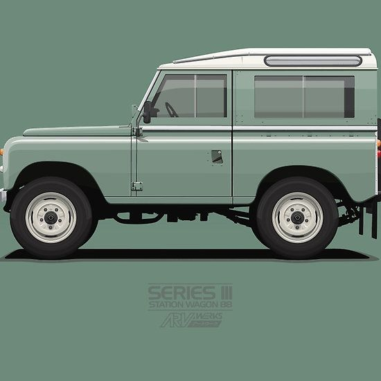 Series 3 Station Wagon 88 Light Green @redbubble #redbubble #landrover #landy #car #automotive #vehicle #truck #merchandise #sale #oldschool #live #landroverseries #vector #illustration #ARVwerks