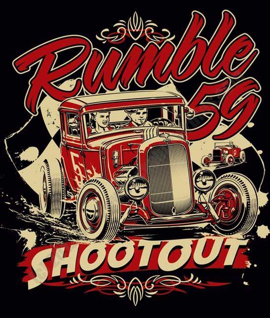 """Ladies T-Shirt """"Shoot Out"""" de la collection: Rumble59 Artist Collection 2012!  Dessin de Ger Peters (NL)"""
