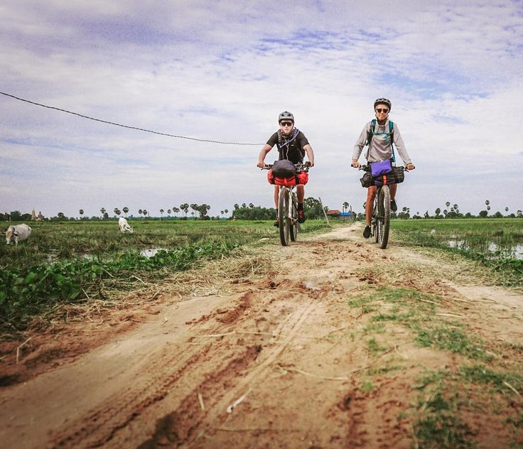 BANGKOK  PHNOM PENH Day Seven 107km Sisophon to Siem Reap. This marks my first 100km ride and feeling so proud to have completed it together! We are both sore sunburnt and more than ready for a rest day after the seven days straight of riding. 470km down
