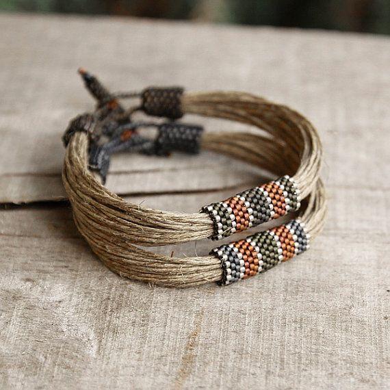 Organic Männer Armband Bettwäsche Armband für von Naryajewelry