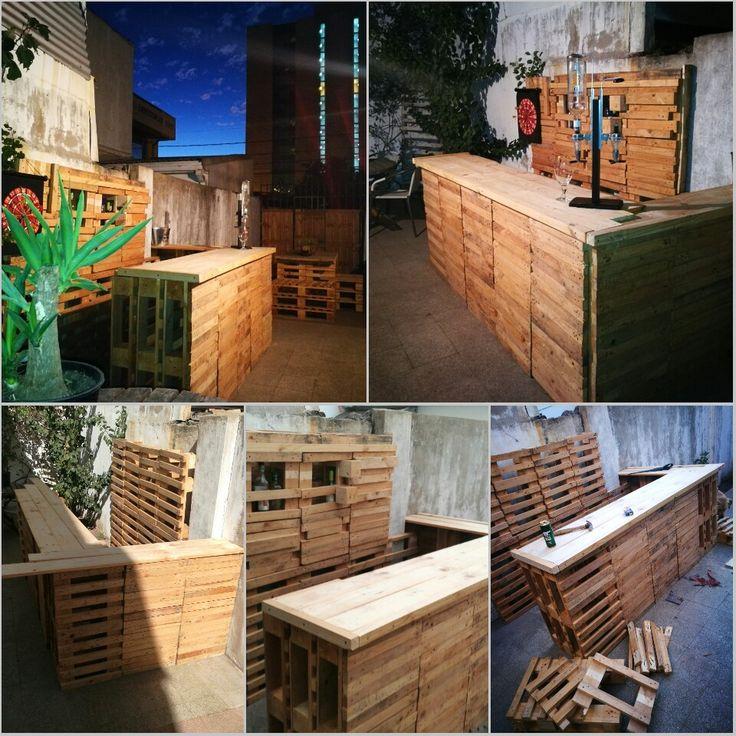 Wood proyect 13 Bar con madera reciclada de pallets #diseñorustico
