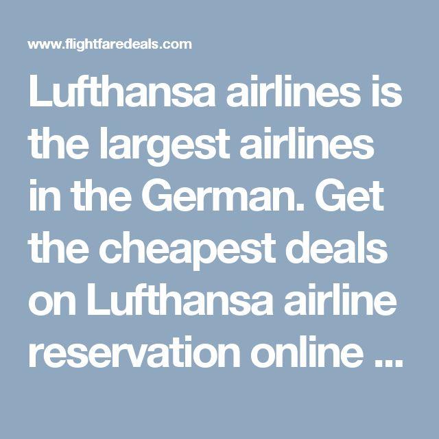 Lufthansa deals