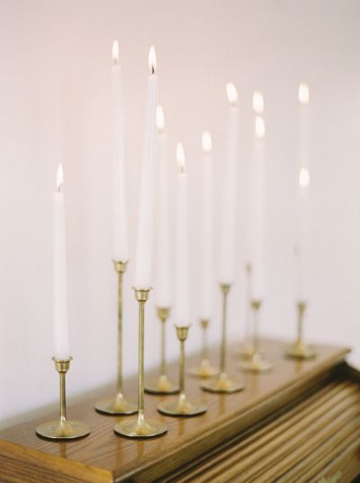 candle light, brass candle holders