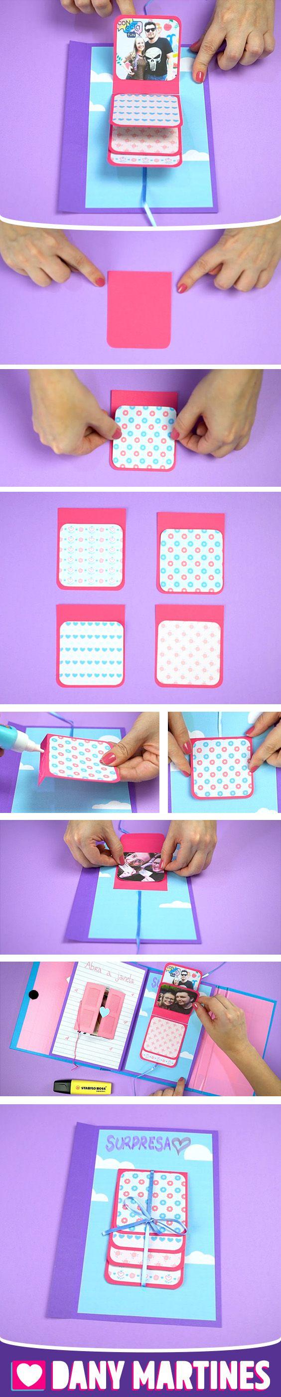 Faça você mesmo um mini album de fotos dentro do seu scrapbook de forma divertida, DIY, do it yourself, Dany Martines