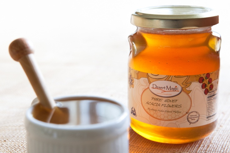 Negev Nectars Acacia Flower honey. A light amber color with a mild yet unique aroma, this  honey is produced from the nectar of the desert's biblical Acacia trees. Created without any chemicals or mitacides, the honey is a pure product from the Negev with an enjoyable flavor.