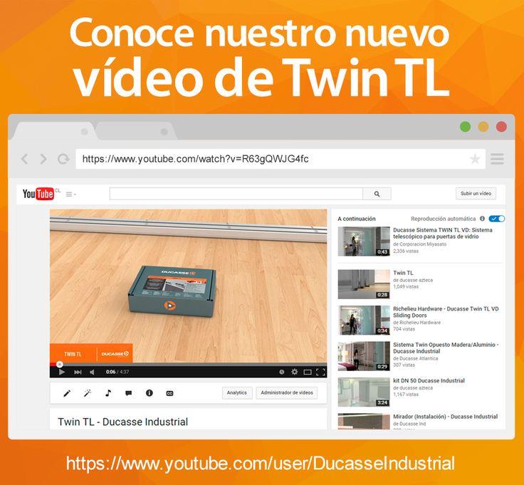 Conoce nuestro nuevo vídeo de Twin TL de nuestro canal de YouTube, no olvides suscribirte a nuestro canal https://www.youtube.com/user/DucasseIndustrial