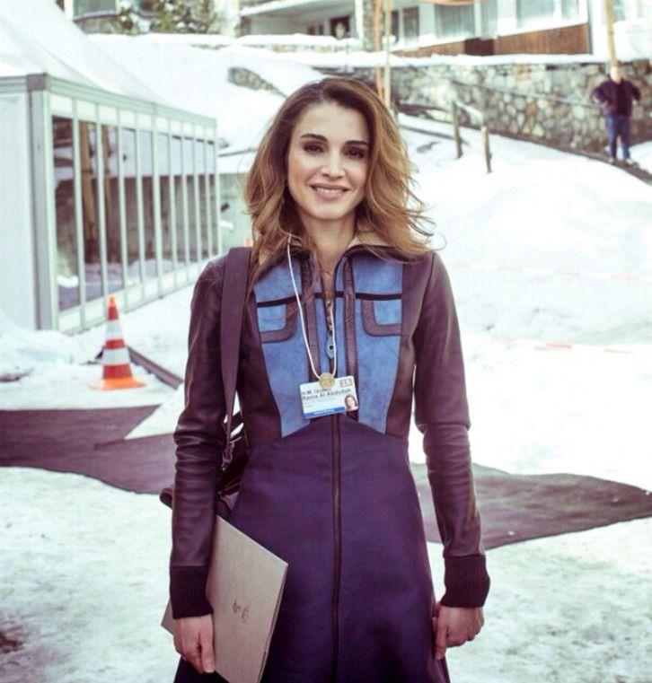 jordanianroyals: Queen Rania at the World Economic Forums, Davos, Switzerland, January 2015