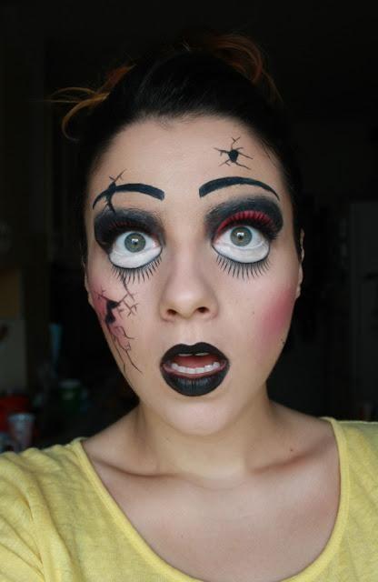 DIY Halloween Makeup : Halloween Makeup  Creepy Broken Doll