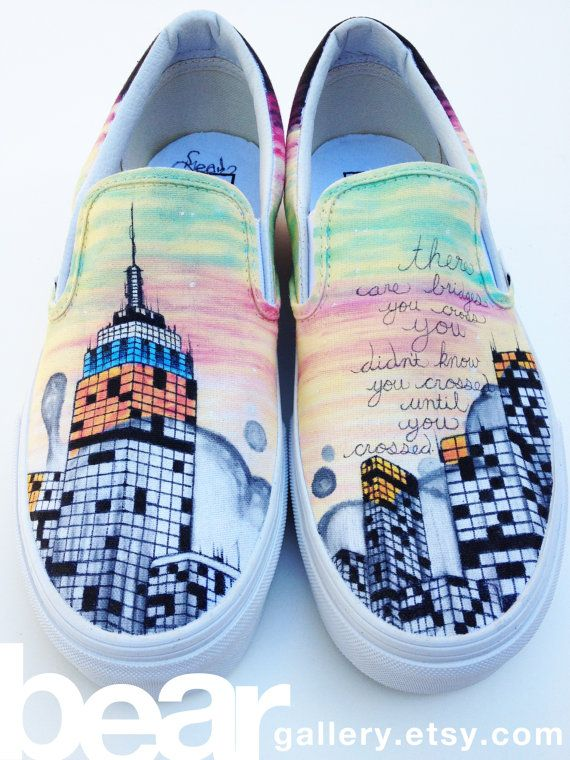 26c73d3a47 Custom Vans New York City by beargallery on Etsy