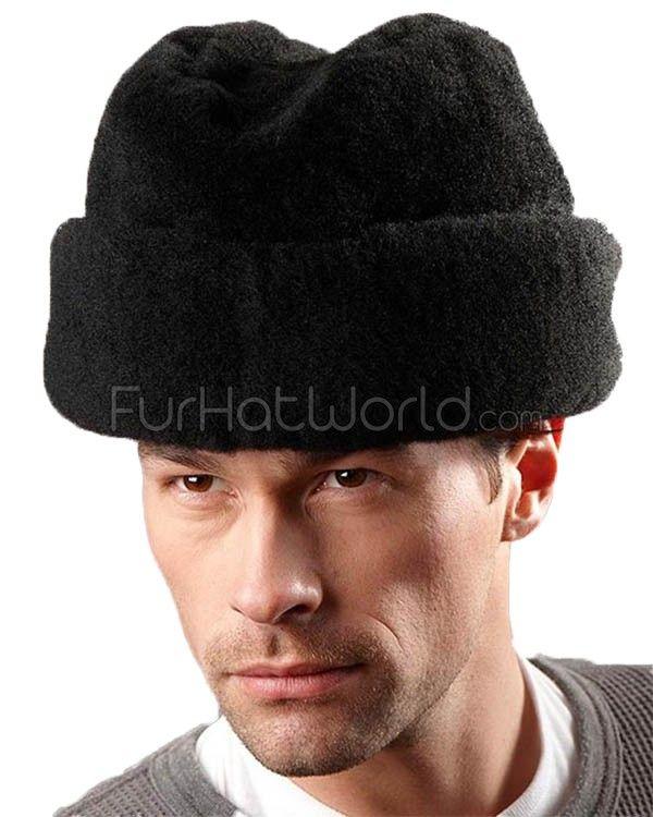 Black Mouton Sheepskin Russian Cossack Hat: FurHatWorld.com