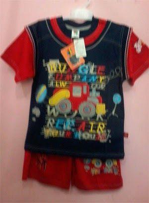 Pakaian Anak: Baju stelan anak bungle merah