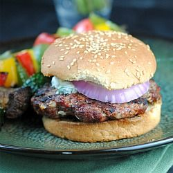 Lamb Burgers with Cilantro Raita | Savory | Pinterest