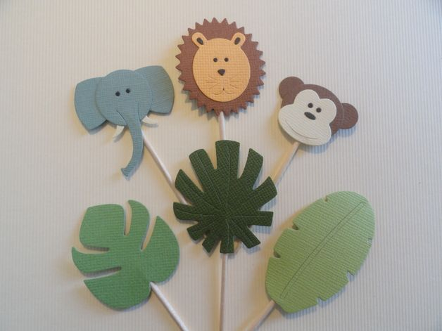 Dschungel-Cupcake-Toppers