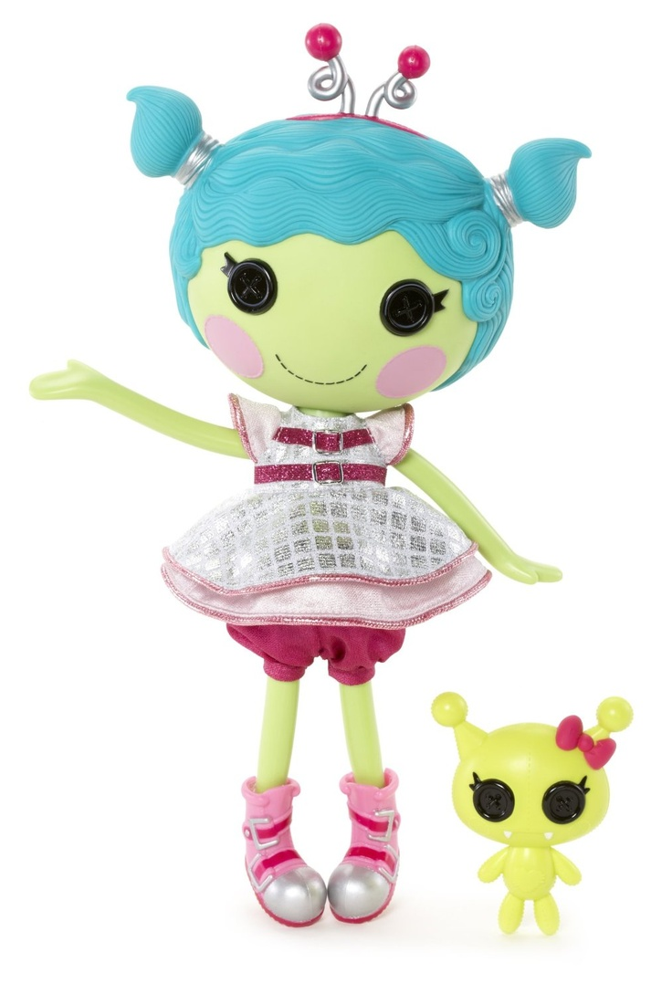 48. Haley Galaxy Full Size Doll Sewn from an Unidentified Shiny Object on February 12 (Extraterrestrial Visitor Day) Pet Green Alien