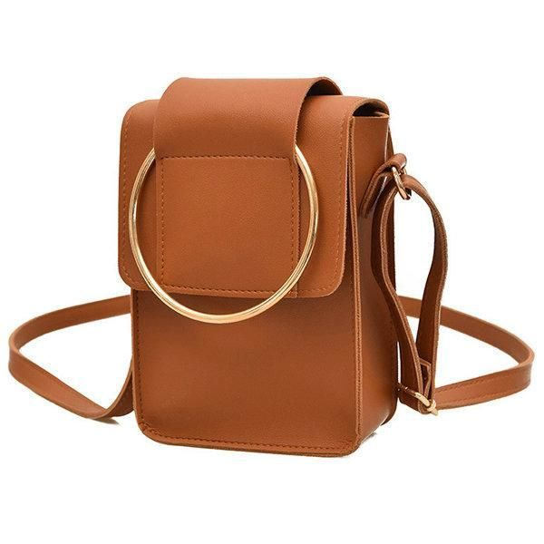 Cute PU Leather Phone Bag Square Mini Crossbody Bag Women Dual-use Handbag 4c0f8ba5d9af4