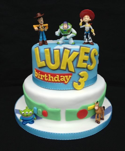 A two tier Toy story cake