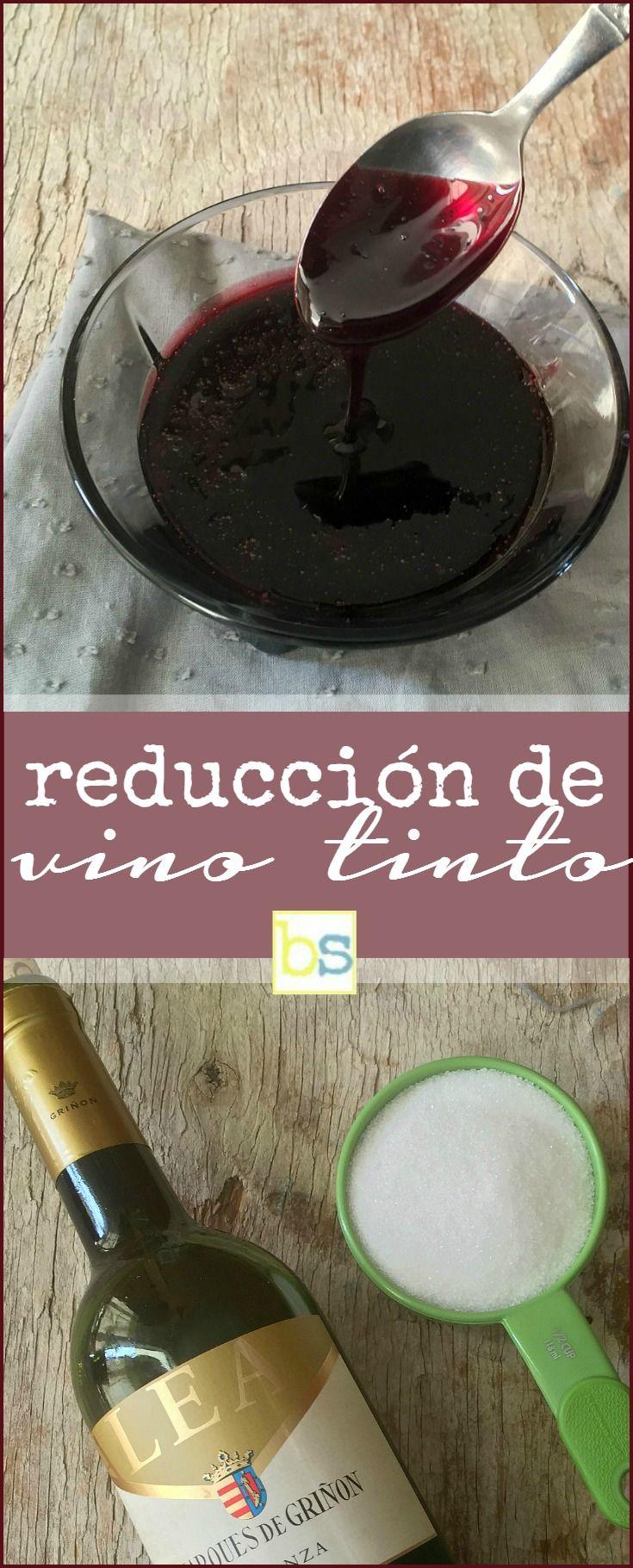 Como hacer reducción de vino tinto: se prepara con vino tinto y azúcar, excelente sustituto a la reducción del vinagre balsámico. Descubre más @bizcochosysan