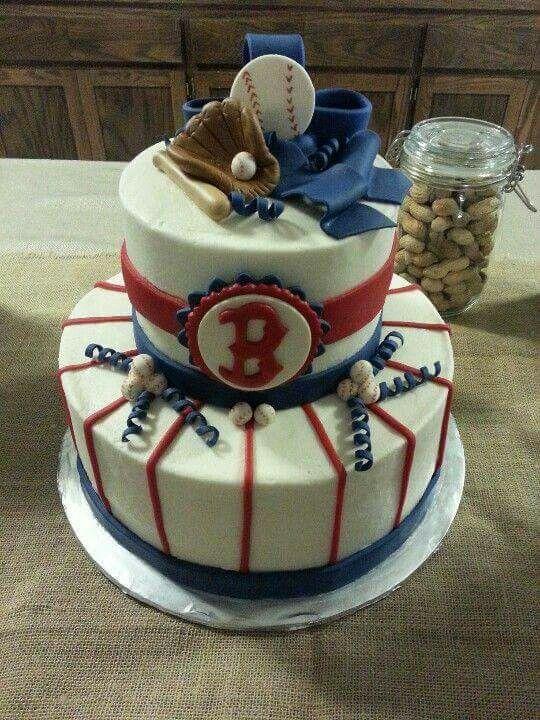 Boston Red Sox Baby shower cake