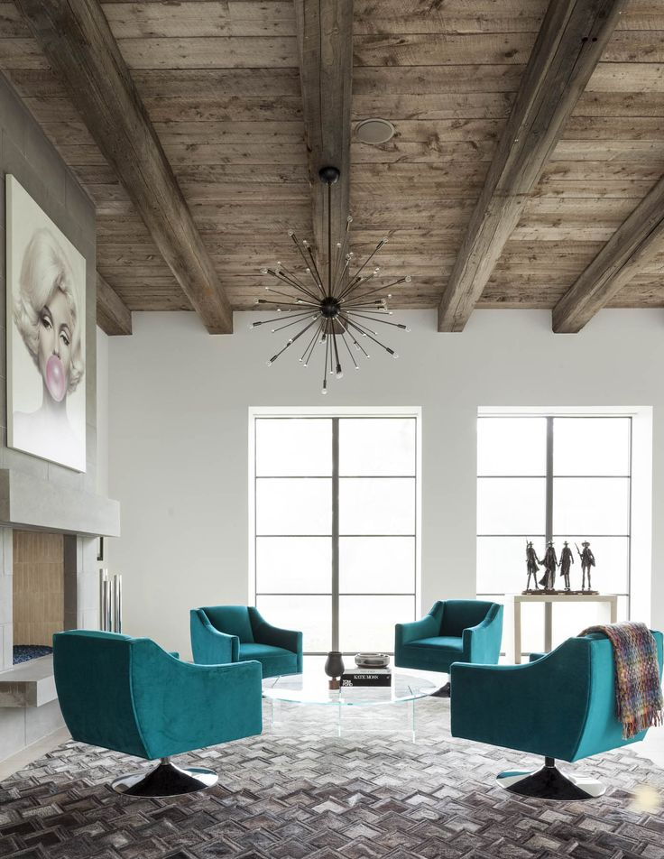 SHM Architects | Shadywood Ln | Living Space | Living Room | Paneled  Ceiling | Light