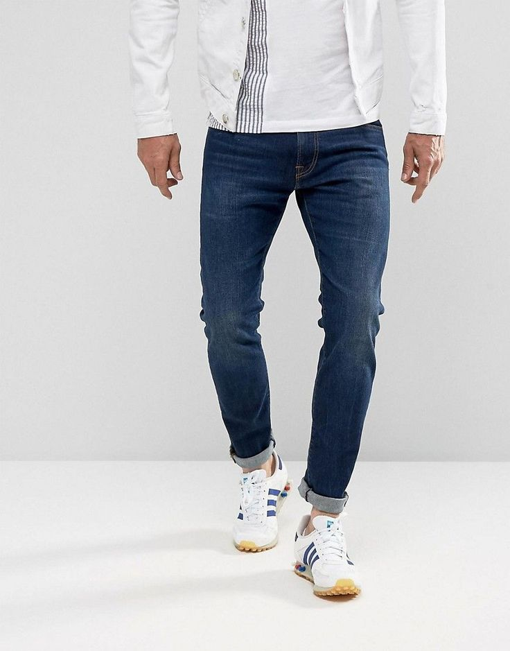 Edwin ED-85 Slim Tapered Drop Crotch Jeans Solstice Wash - Blue