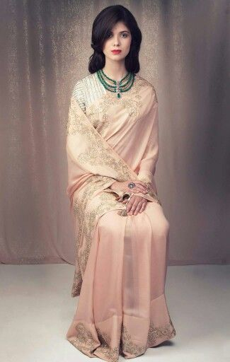 Dress like Royalty: Maharani Gayatri Devi; Saree by Zoraya
