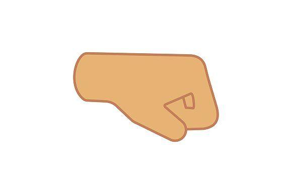 Right Fist Emoji Color Icon Emoji Icon Color