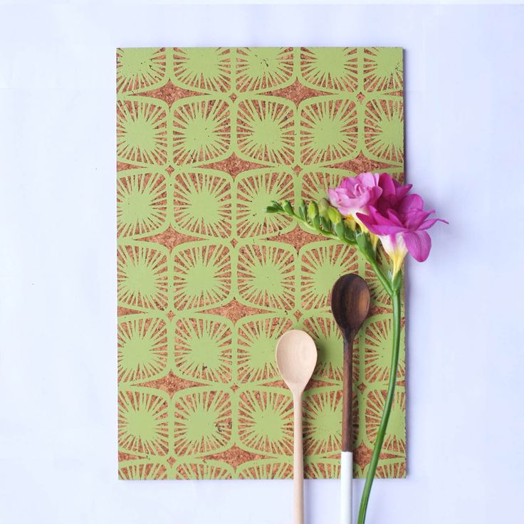 Cork Placemats 'Pod' Lime available from, http://courtneyclaire.bigcartel.com/