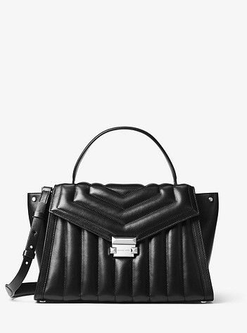 a9230c40cbf003 MICHAEL Michael Kors Whitney Large Quilted Leather Satchel in 2019 ...